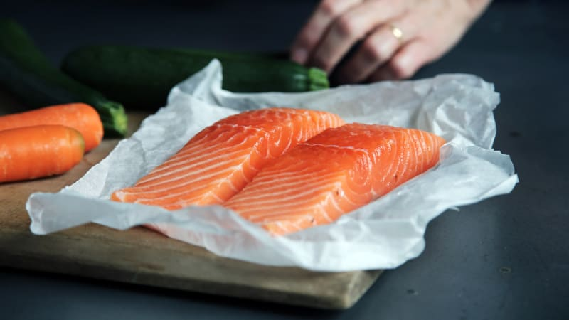 Salmon helps to improve blood circulation