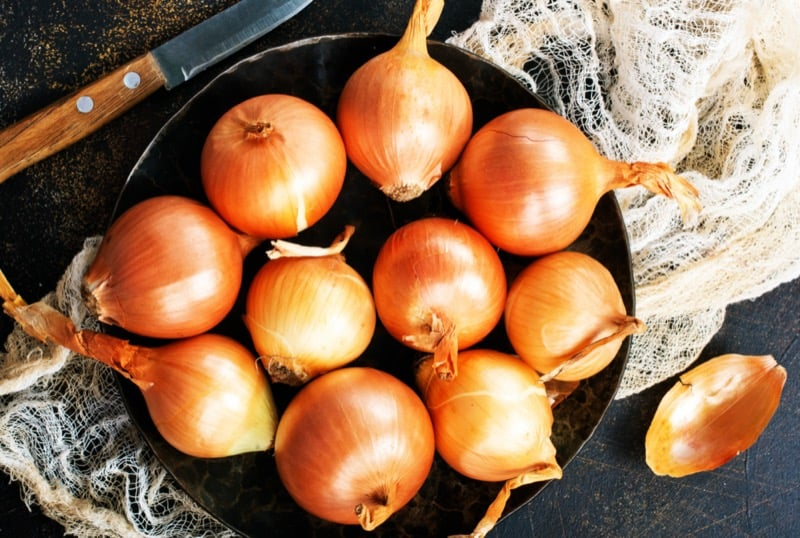 onions improve blood circulation in legs
